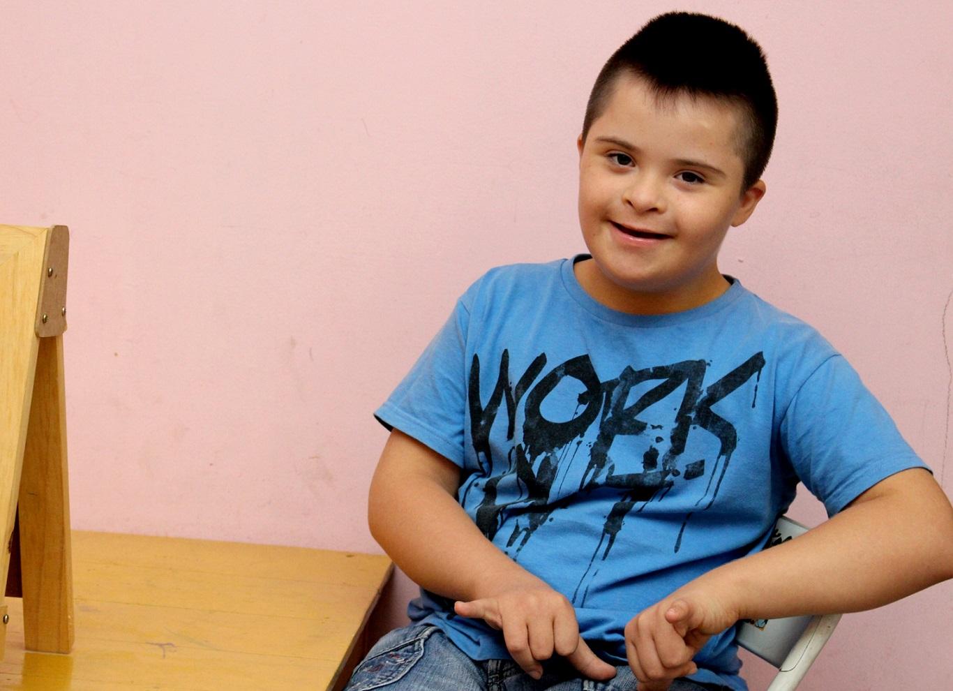 Una persona con síndrome de Down.