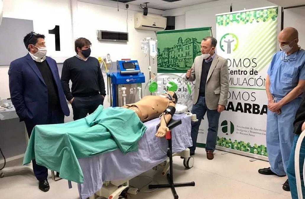 Un nuevo respirador desarrollado y fabricado en Argentina.